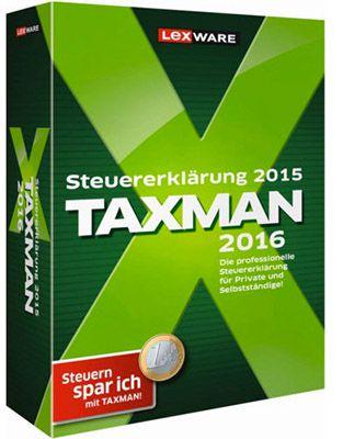 Lexware Taxman 2016 Lexware Taxman 2016 für 18,90€ (statt 24€)   Steuersoftware für 2015