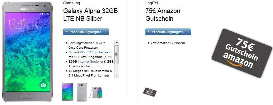 Vodafone Allnet Flat XL + 1GB Daten + SMS Flat + Samsung Galaxy S5 oder Alpha für effektiv 26,77€ monatl.