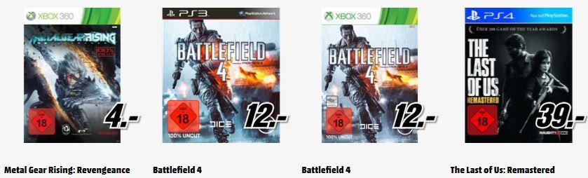 M edia markt1 Battlefield 4 [PlayStation 3 oder XBox 360] für 12€   und 198 mehr gute MediaMarkt Angebote: Alles Muss Raus   Update