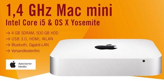 Mac Mini Apple Mac mini MGEM2D/A für 399€   i5 1,4 GHz, 4GB Ram, 500GB