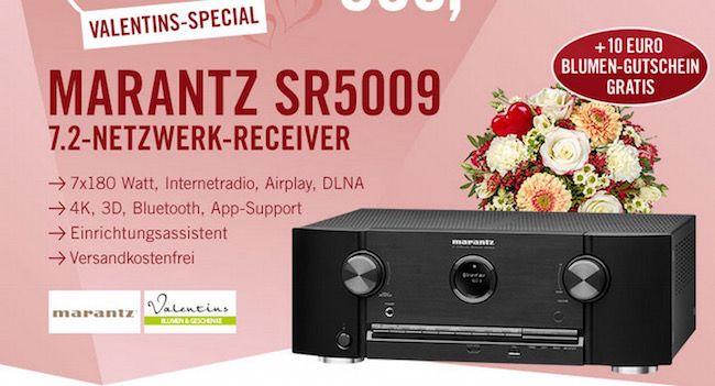 Marantz SR5009 7.2 AV Netzwerk Receiver + 10€ Blumengutschein für 599€