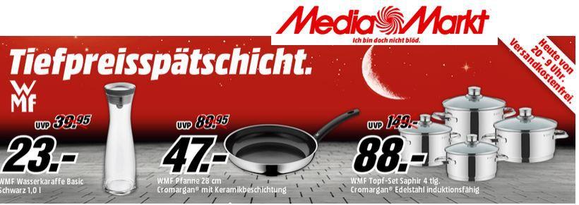 WMF Topf Set Saphir 4tlg. für 88€ bei der WMF MediaMarkt Tiefpreis Aktion