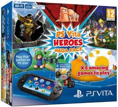 Sony PlayStation Vita Konsole +  Wifi + MegaPack Heroes für 124,97€   Update