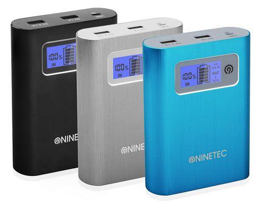 NINETEC PowerDrive   Powerbank 13.400 mAh und 16GB USB Speicher für 29,99€