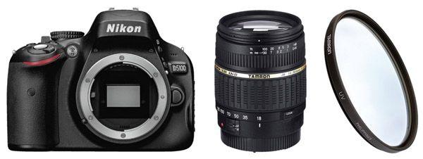 Nikon D5100 + Tamron 18 200 Objektiv + UV Filter für 399€