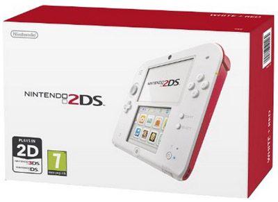 Nintendo 2DS Nintendo 2DS Konsole für ca. 73,21€ in Weiß/Rot