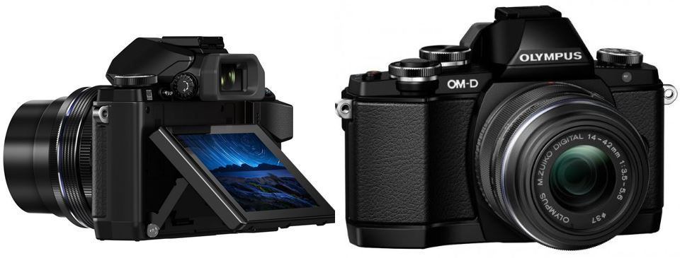 Olympus Olympus OM D E M10 SLR + 14 42mm Pancake & 40 150mm Objektiv für 699€
