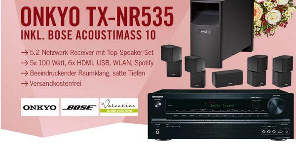 Onkyo TX NR535 Netzwerk Receiver + Bose Acoustimass 10 Lautsprecher System für 899€