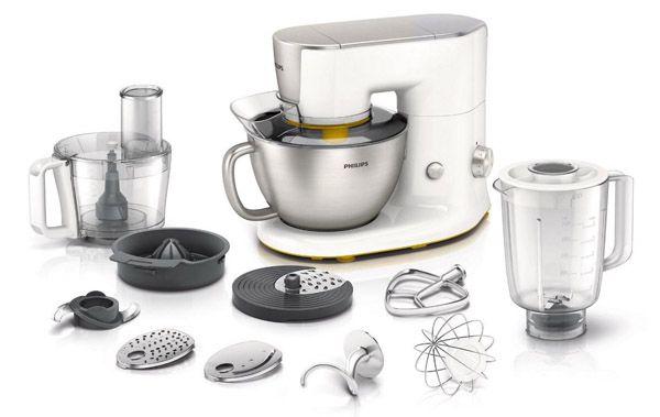 Philips HR7954 Philips HR7954/00 Küchenmaschine (900 Watt, Rührarm, 4 Liter, Mixbecher) für 199€ (statt 239€)
