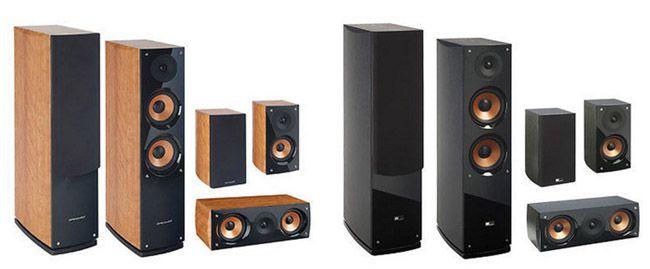 Pure Acoustics Supernova 5 für 279€   5.0 Lautsprechersystem in Schwarz oder Walnuss