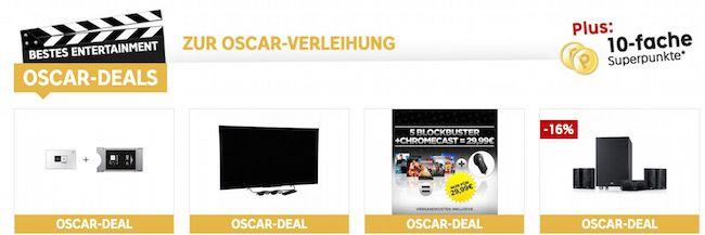 Rakuten Oscar Deals Rakuten Oscar Deals mit 10 fachen Superpunkten   z.B. Chromecast + 5 Blockbuster Filme für effektiv 27,09€