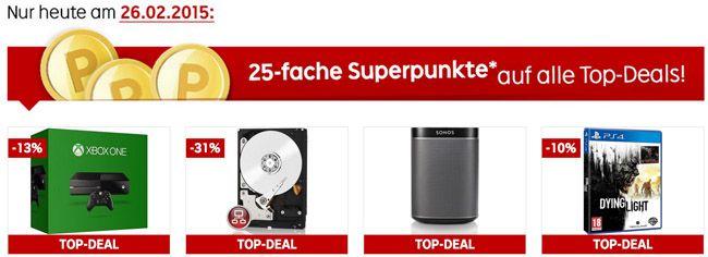 Rakuten Top Deals TOP! Nur heute 25 fach Superpunkte auf ausgewählte Top Deals bei Rakuten   Update!