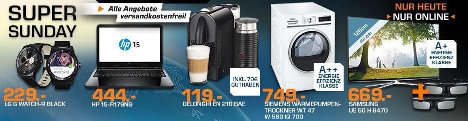 Saturn Super Sunday DE LONGHI Nespresso Umilk + 70€ Kapselguthaben für 114€ und mehr Saturn Super Sunday Angebote   Update