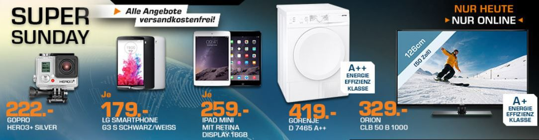LG G3 S Smartphone ab 174€ und mehr Saturn Super Sunday Angebote