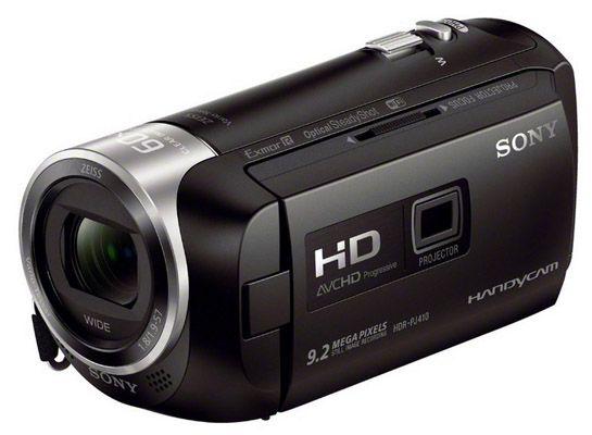 Sony HDR PJ410 Full HD Camcorder für 289,14€   30 fach opt. Zoom, 60x Klarbild Zoom, Weitwinkel mit 26,8 mm
