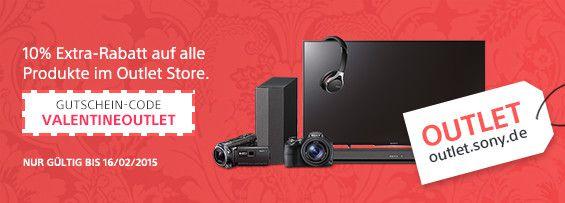 10% Rabatt auf ALLES im Sony Outlet Store – z.B. Sony Cyber shot DSC WX300 für 188€ statt 295€
