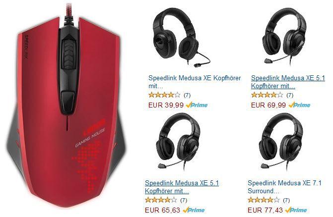 Speedlink Ledos Core Gaming 5 Tasten Maus kostenlos   bei kauf eines Headset von der Landingpage