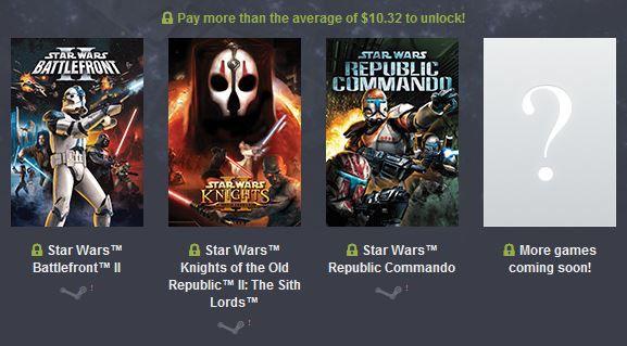 Star Wars Humble Bundle – z.B. mit Knights of the Old Republic, Jedi Knight: Jedi Academy, Dark Forces ab 0,87€
