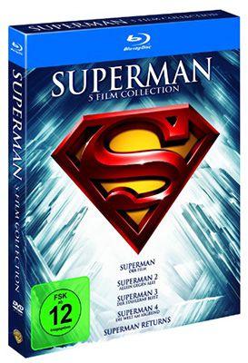 Superman 1 5   Die Spielfilm Collection auf Blu ray für 12,99€ (statt 20€)
