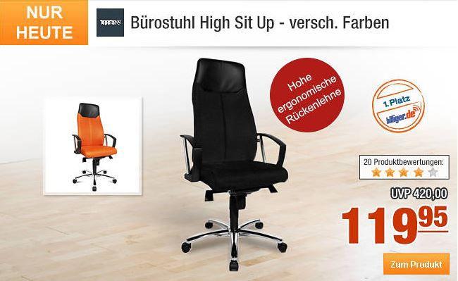 TopStar1 Topstar Bürostuhl High Sit Up   statt 165 für nur 104,95€   dank neuer Plus.de Gutscheine