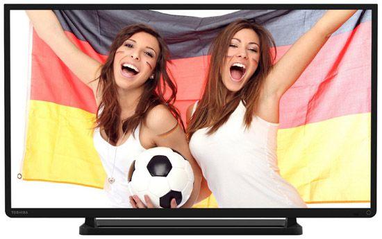 Toshiba 32L2433DG   32 Zoll Full HD LED Fernseher mit Twin Tuner für 219,99€