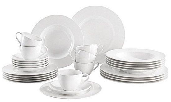 Villeroy & Boch Basic White Geschirr Set 30 teilig für 99,90€