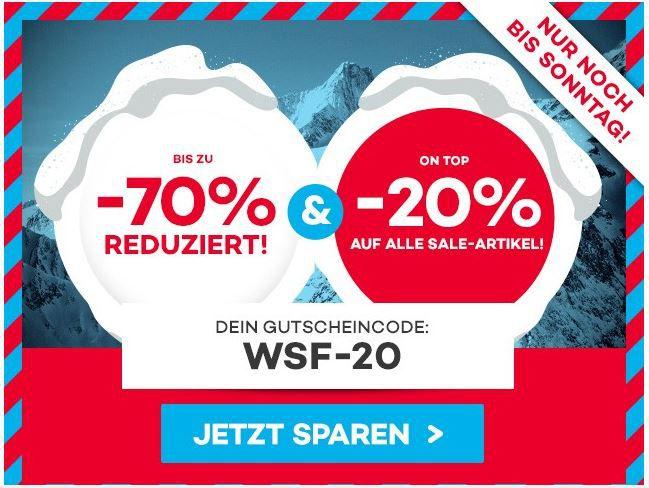 WSV Planet Sports mit 70% Rabatt Sale + 20% Rabatt auf SALE Artikel   Update!