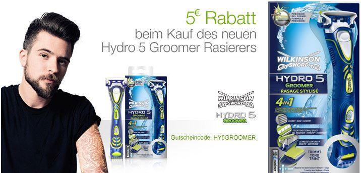 Wilkinson Sword Hydro 5 Groomer Rasierer mit Klinge ab 6,95€ (statt 12€)