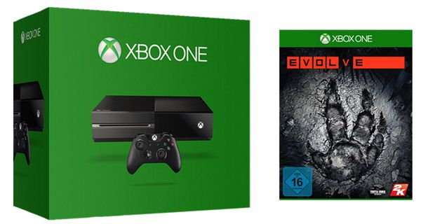 Xbox One 500GB + Evolve ab 349€   Update