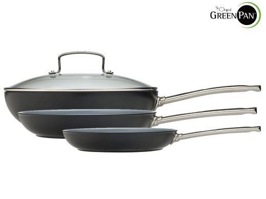 greenpan bali pfannenset GreenPan   Pfannenset mit Thermolon Antihaft Technologie für 46€