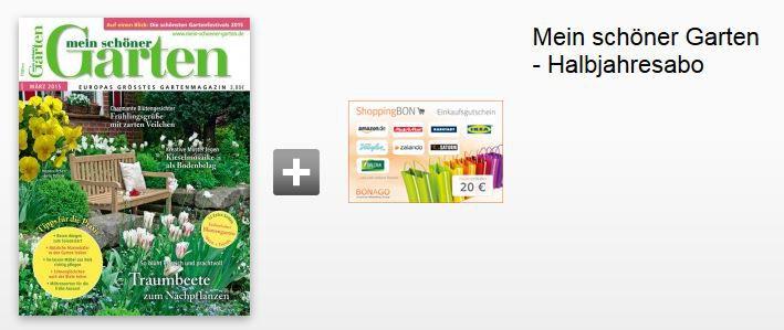 """Halbjahresabo """"Mein schöner Garten"""" für 24€ + 20€ Gutschein"""