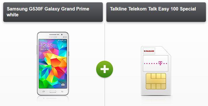 modeo Samsung Galaxy Grand Prime + Telekom Talkline Talk Easy 100 Vertrag für 9,90€ monatl.   Update!