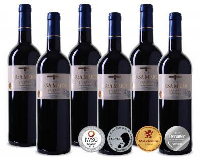 6 Flaschen 2014er Ursa Maior   mehrfach Prämierter Rioja DOCa Reserva für 40,89€