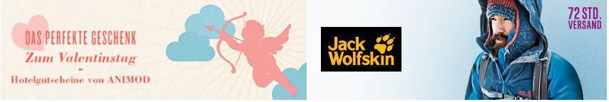 Jack Wolfskin SALE   Animod Hotelgutscheine zum Valentinstag und mehr Angebote ab 7Uhr bei Vente Privee