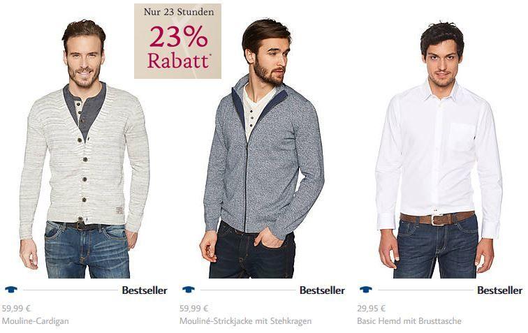 23 Prozent Rabatt Tom Tailor mit 23% Rabatt auf ausgewählte Kleidung   nur bis Mitternacht.