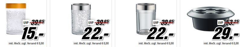 Alfi Flaschenkühler Alfi Isolierkannen und Becher ab 8€ in der MediaMarkt ALFI Tiefpreisspätschicht