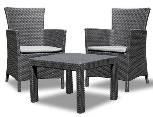 Allibert Rosario Balcony Lounge Set statt 188€ für 119€   2x Sessel und 1x Tisch, Rattanoptik, Kunststoff