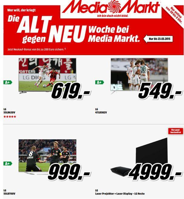 LG 55LB620V   55Zoll 3D TV für 559€ bei der MediaMarkt Aktion: Alt vs. Neu