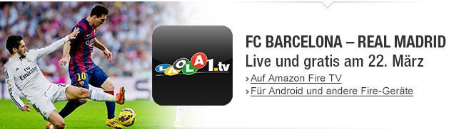 Gratis, live und in HD: FC Barcelona   Real Madrid
