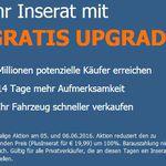 Kostenloses Plus Inserat bei Autoscout24.de – nur am 15. und 16.01.17