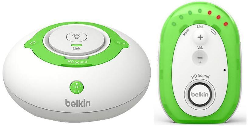 Belkin Baby 200 Digitales   Digitales DECT Babyphone bis zu 300 m Reichweite mit Nachtlicht für 19,99€   Update!