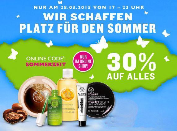 Body The Body Shop   heute vor der Sommerzeit Umstellung 30% auf alles bis 23Uhr   Update