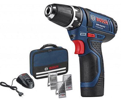 Bosch GSR 108 2 LI Bosch GSR 10,8 2 LI Professional Akkuschrauber mit 2x 1,5Ah Akkus für 69€