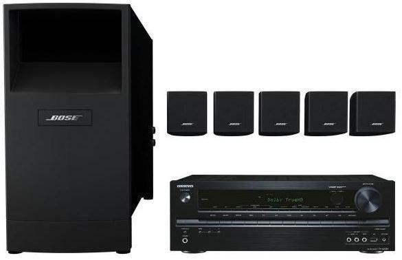 Bose Onkyo TX NR535 Netzwerkreceiver + Bose Acoustimass 6 Heimkinolautsprecher für 699€ bei den Cyberport Weekend Deals