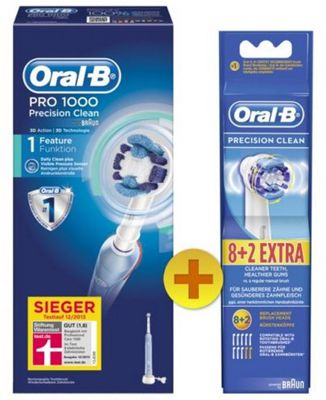 Braun Oral B PRO 1000 Zahnbürste + 10 Precision Clean Ersatzbürsten für 54,99€
