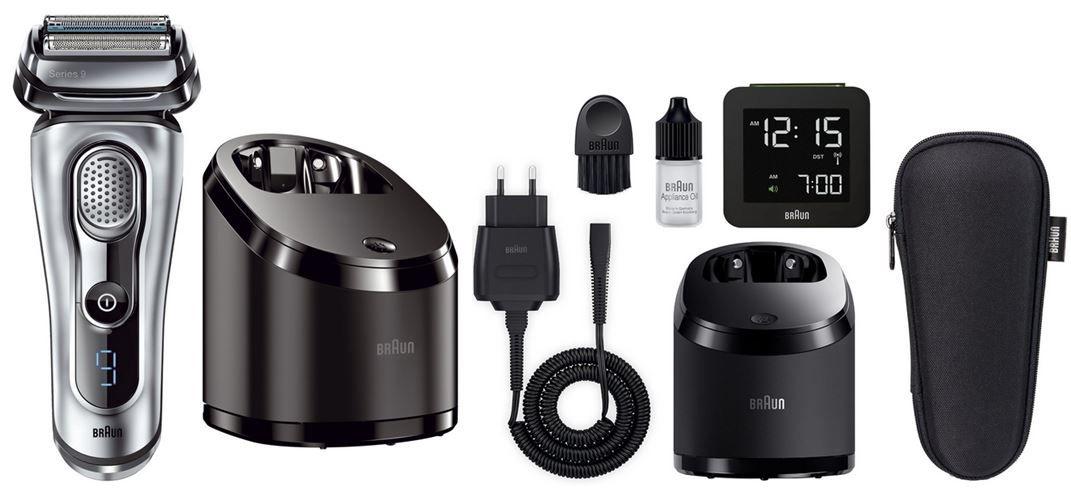 Braun Serie 9 Braun 9090cc der Series 9   elektrischer Rasierer mit Zubehör + Reisewecker für 199,99€