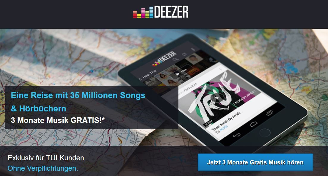 Deezer DEEZER Premium Musikstreaming   3 Monate nur 99 Cent statt 30€   Update