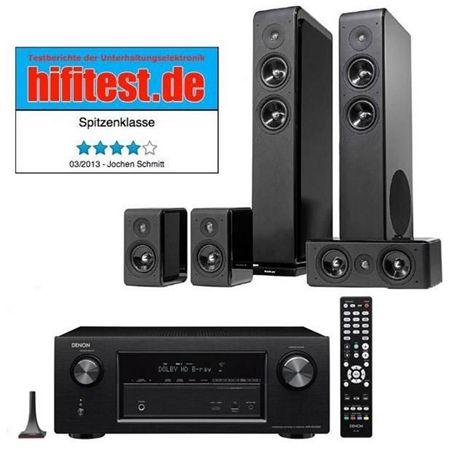 Denon AVR X2100 7.2 Netzwerk Receiver + Audio Pro Avanto 5.0 Lautsprecher für 799€