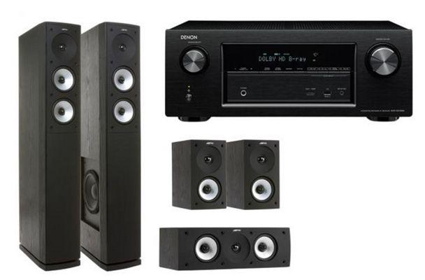 Denon AVR X2100W + Jamo S 626 HCS 5 Heimkinosystem mit AirPlay und DLNA für 644€