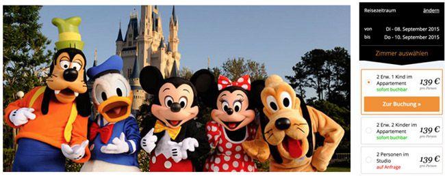 Disneyland Paris mit 2 Übernachtungen und 1 Tagesticket ab 139€ pro Person